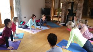 yoga pose mat smile retreat