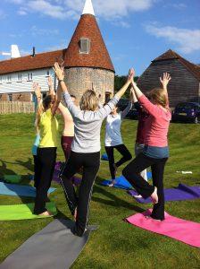 retreat yoga outdoors nature