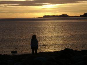 Beach sunset sunrise yoga sea