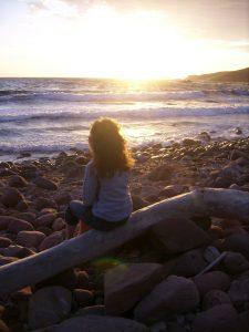 Jules beach sunset peace meditate sea