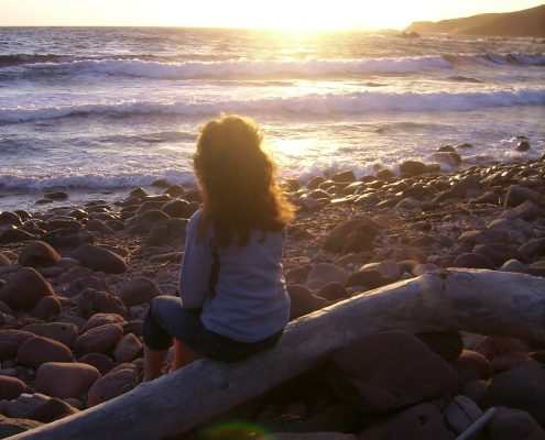 Jules beach sunset peace meditate sea