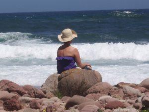 Jules sea beach rocks waves sun relax