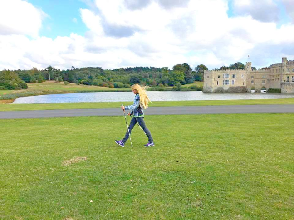 nordic walking healthy nature outdoors